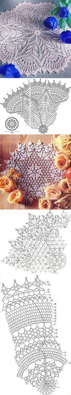 New Crochet Doilies Chart Table Runners Ideas Filet Crochet, Crochet Doily Diagram, Bag Crochet, Crochet Dollies, Crochet Doily Patterns, Crochet Round, Crochet Chart, Crochet Home, Thread Crochet