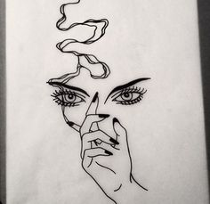 This, but instead it's Audrey's eyes and her long cigarette