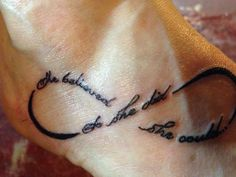 "my new tattoo ""she believed she could...so she did"""