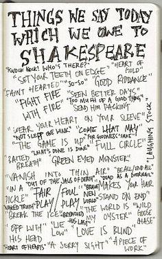 Go Shakespeare. :)