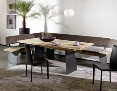 Nett eckbank mit stoffbezug Dining Room, Kitchen, Table, House, Inspiration, Furniture, Home Decor, Conference Room, Houses