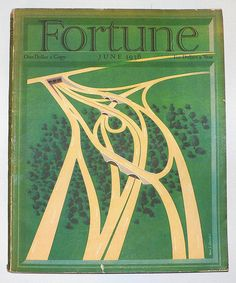 "Original June 1938 ""Fortune"" cover based on an illustration by the German-born graphic designer and poster artist Hans Barschel Printed on heavy card stock using the gravure process. Includes a certificate with additional information and a copy. Magazine Art, Magazine Design, Magazine Covers, Book Cover Design, Book Design, Fortune Magazine, Magazine Illustration, Publication Design, Old Magazines"