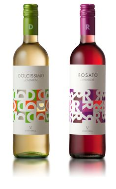 TAFE Assessment Ideas - Dolcissimo y Rosato, wine packaging design. Wine Bottle Design, Wine Label Design, Wine Bottle Labels, Beer Labels, Wine Bottles, Beverage Packaging, Bottle Packaging, Coffee Packaging, Food Packaging