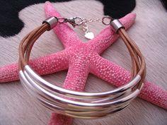 Selene natural leather bracelet SALE 10% 0FF by CrazyPandamonium