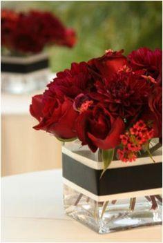 (Brilliant Black) black + white + scarlet red