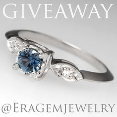 We are giving away this Montana sapphire ring on instagram! @EraGemjewelry Click photo for more details. Ends 1/6/17