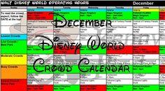 Updated! December 2015 Disney World crowd calendar, park hours, show schedules, fastpass dates, dining booking dates, best parks