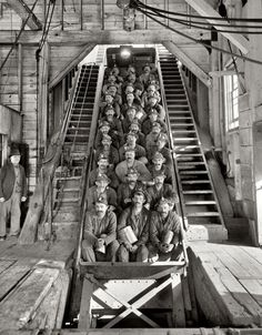 Copper miners in Calumet, 1905.