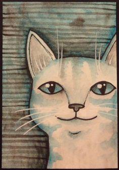 Monochromatic cat ATC by gwenniejo on AFA