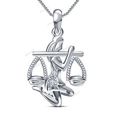 """Free Pouch 14K Gold Plated Round Cut D/VVS1 Diamond Zodiac Pendant With 18""""Chain…"""