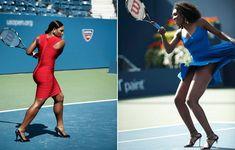 Serena and Venus Williams Tennis Fashion Match #tennis #ausopen