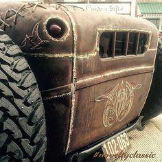 Jeep Rat Rod, Rat Rod Trucks, Rat Rod Cars, Old Pickup Trucks, Custom Rat Rods, Truck Interior, Garage Art, Fancy Cars, Kustom Kulture