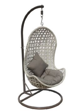 Indoor/outdoor Hanging Chair Complete With Stand, Cushions And Pillows By  JLIP,