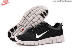 Buy Discount Womens Nike Free 6.0 Black White Shoes Shoes Store