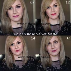 MAKEUP ARENA: Golden Rose Velvet Matte ruževi SVE NIJANSE - recenzija, swatchevi...