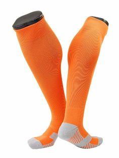 Lian Style Men's 1 Pair Knee-high Sports Socks Size M XL0021-02(Orange) Sports Socks, Athletic Socks, Pairs, Mens Fashion, Orange, Style, Moda Masculina, Swag, Man Fashion