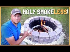 How To Build a DIY Smokeless Fire Pit That Really Works! - YouTube Dyi Fire Pit, How To Build A Fire Pit, Wood Fire Pit, Fire Pit Grill, Fire Pit Area, Fire Pit Backyard, Fire Pits, Diy Propane Fire Pit, Building A Fire Pit