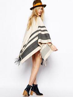 ASOS' stripe blanket cape