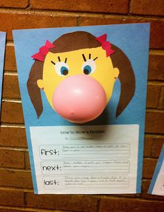How to blow a bubble-- writing and math activity! Free download! This activity is adorable!