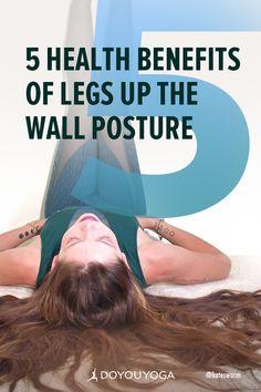 5 Health Benefits of Legs Up the Wall Posture | DOYOUYOGA.com  #yoga #stressrelief