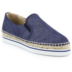 Jimmy Choo Dawn Denim Leather Espadrille Sneakers