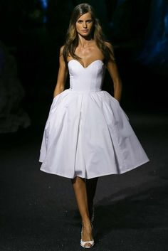 Philipp Plein | spring summer 2015 | MFW | style | white tea length | full Skirt | dress
