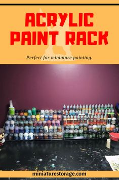 I picked up an acrylic paint rack to store my Citadel and Vallejo paints in. Hobby Desk, Hobby Room, Paint Organization, Organizing, Vallejo Paint, Paint Companies, War Hammer, Military Modelling, Bottle Painting