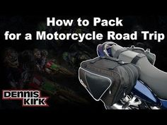 ▶ How To Pack for a Motorcycle Trip (Using just one pair of  saddlebags!) - YouTube [excuse the sales pitch - or use it - but really good tips ]