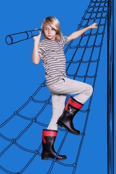 Younger boys will always love a Pirate logo, from Mooi en Lief footwear for kids 2014