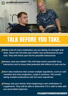Talk to your doctor today and make sure you're taking medications and supplements safely! #talkbeforeyoutake