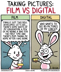 Taking Pictures: Film vs Digital - A funny cartoon about the joys of analogue photography. You're missing a lab that takes care of your films? You can send them to our LomoLab! http://shop.lomography.com/films/lomolab-services