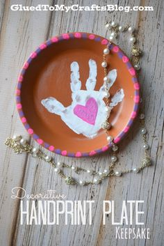 Decorative Handprint Plate Keepsake