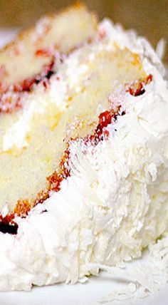 Raspberry Lemon Coconut Cake - Spoonful of Sugar