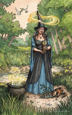 Everyday Witch tarot ace of cups ( happy Ostara :) )