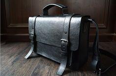 Custom Handmade Leather Briefcase, Messenger Bag Shoulder Bag Men's Handbag