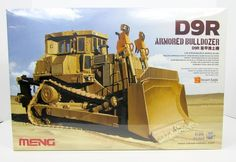 This D9R Armored Bulldozer armored vehicle model kit is made by Meng in 1/35 scale. - Brand new workable tracks - Door and window can be built opened or closed