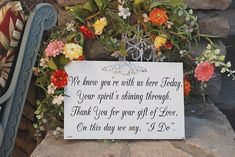 Wedding Signs Memorial Remembrance Sign GIFT OF by familyattic, $34.95