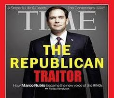 Rubio was born in Miami, Florida onMay 28, 1971, the second son and third child of Mario Rubio and Oria Garcia. His parents were Cubans who had immigrated to the United States in 1956 and were naturalized as U.S. citizens in1975!.That makes little Marco an anchor baby. Don't expect him to think like the average American. He has now both said and shown us he doesn't respect the office of the senate, and is not to be trusted to the office of President!