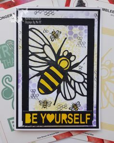 Stencils, Stamps, Bee, Frame, Cards, Decor, Seals, Picture Frame, Decoration
