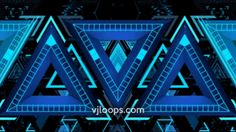Triangle pattern #vjloops #3D #animation #mapping #video #triangle #abstract #visuals #stage #EDM #vj #design #art #blue #triangle #shapes