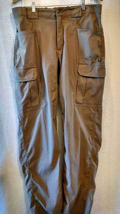 Duluth Trading Flex on the Fly Cargo Pants Beige Nylon Blend Sz L/36 #Duluth #Cargo