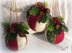 Купить Новогодний шар - бордовый, новогодний шар, елочное украшение, шар на елку, шар кимекоми