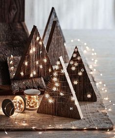 wrap wood trees with LED lights