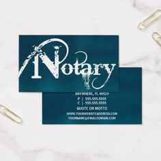20 Notary Public Business Cards Ideas