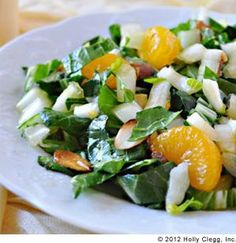 Bok Choy Salad - So good! Give Bok Choy a try - super healthy! #webmd #trimandterrific You'll love all my easy, healthy #recipes Hollyclegg.com http://thehealthycookingblog.com/