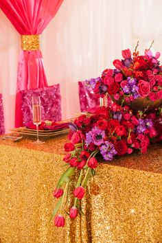 Glamorous Pink and Red Wedding Ideas