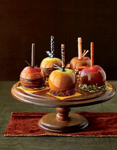 Delicious Caramel Apples to grace your Fall dessert table.  A gorgeous companion for any Autumn celebration.
