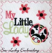 My Little Ladybug Embroidered Applique Patch