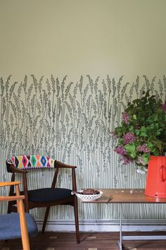 Enter to WIN fabric, paint and wallpaper! Contest prizes provided by Kravet Canada and Farrow & Ball. Farrow Ball, Farrow And Ball Paint, Floral Print Wallpaper, Paper Wallpaper, Home Wallpaper, Floral Prints, Free Wallpaper Samples, Grass Pattern, Colour Consultant