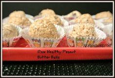 Raw Healthy Peanut Butter balls